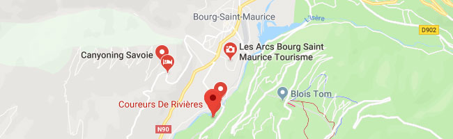 Locate Coureurs de Rivieres Rafting organization on Google Map