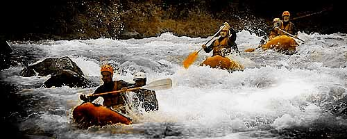 Canoe-raft on Isere Bourg-St-Maurice