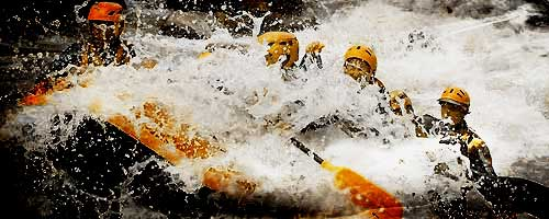 Rafting at Bourg-St-Maurice Savoie, it's fun!